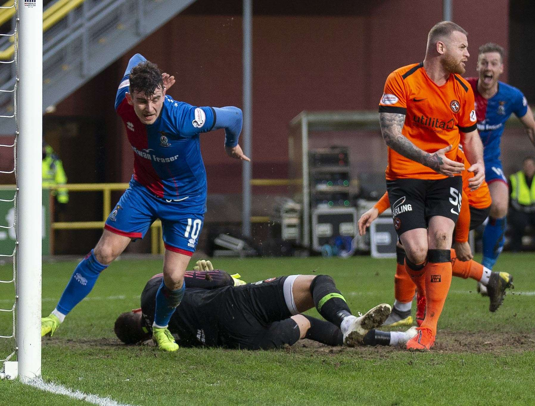 Aaron Doran scoring the winning goal against Dundee United. Picture: Ken Macpherson