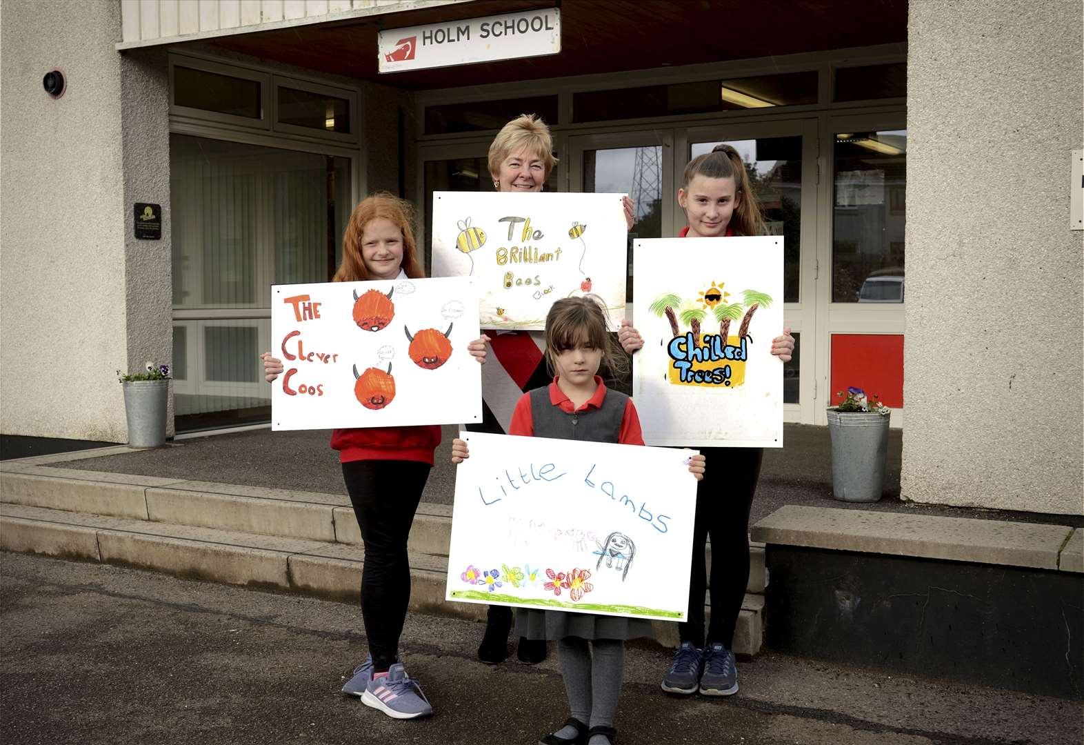 Inverness pupils design signs to spruce up school