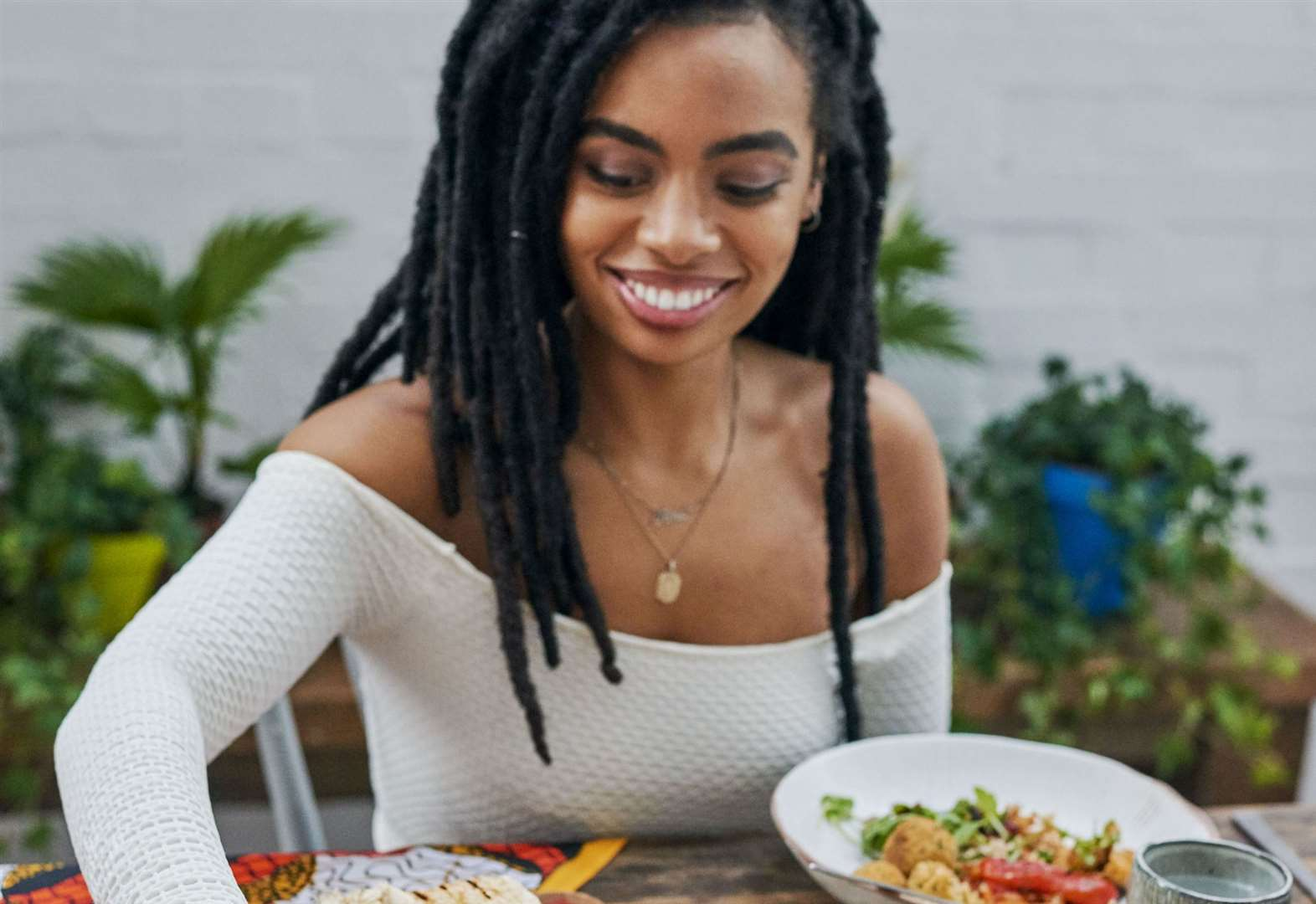 Vegan food with a Caribbean vibe