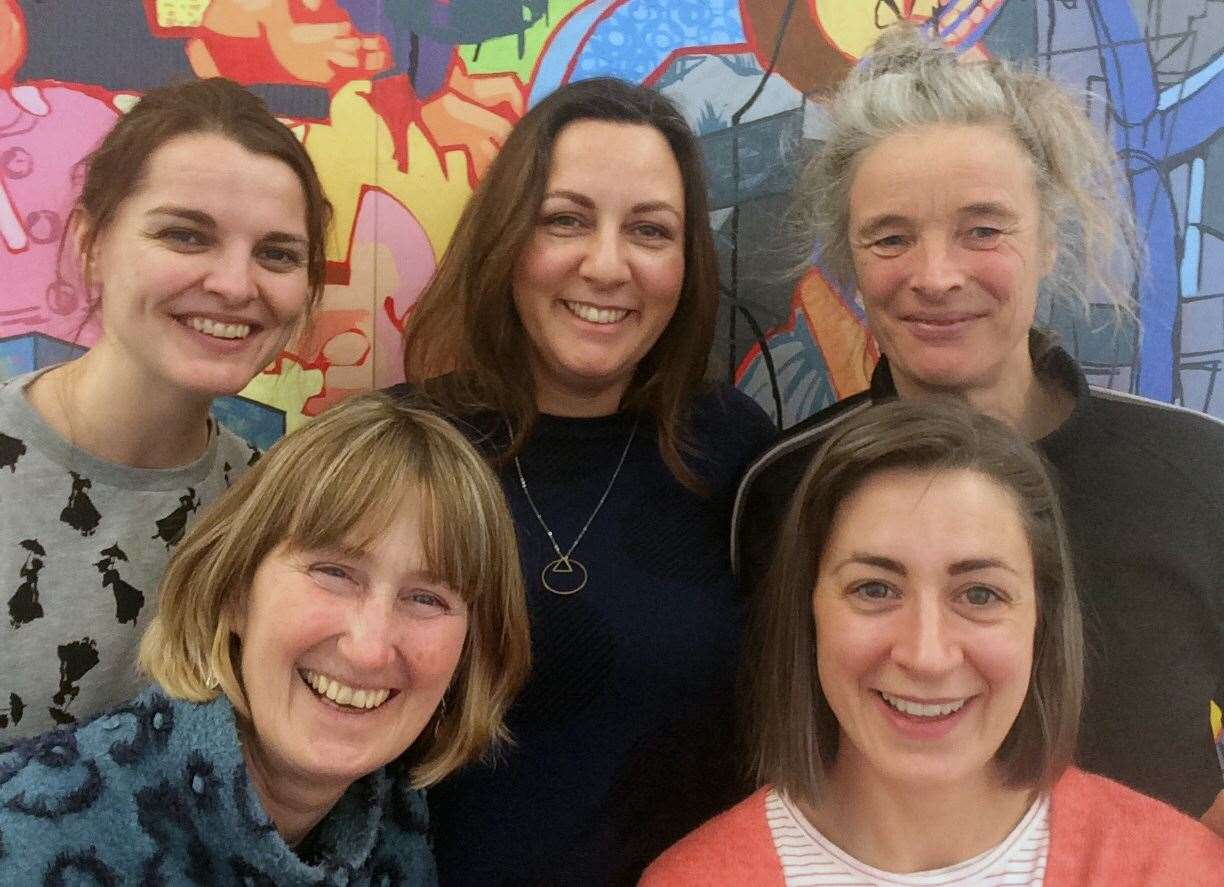 The team behind the scheme. Back, from left: Suzie Eggins, Kirsten Body and Nicola Gear. Front, from left: Lorna Campbell and Cat Meighan.