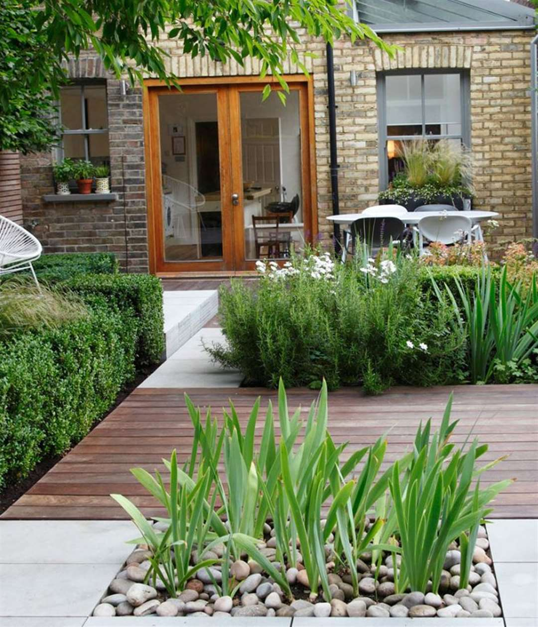 Small gardens can provide plenty of outside space.