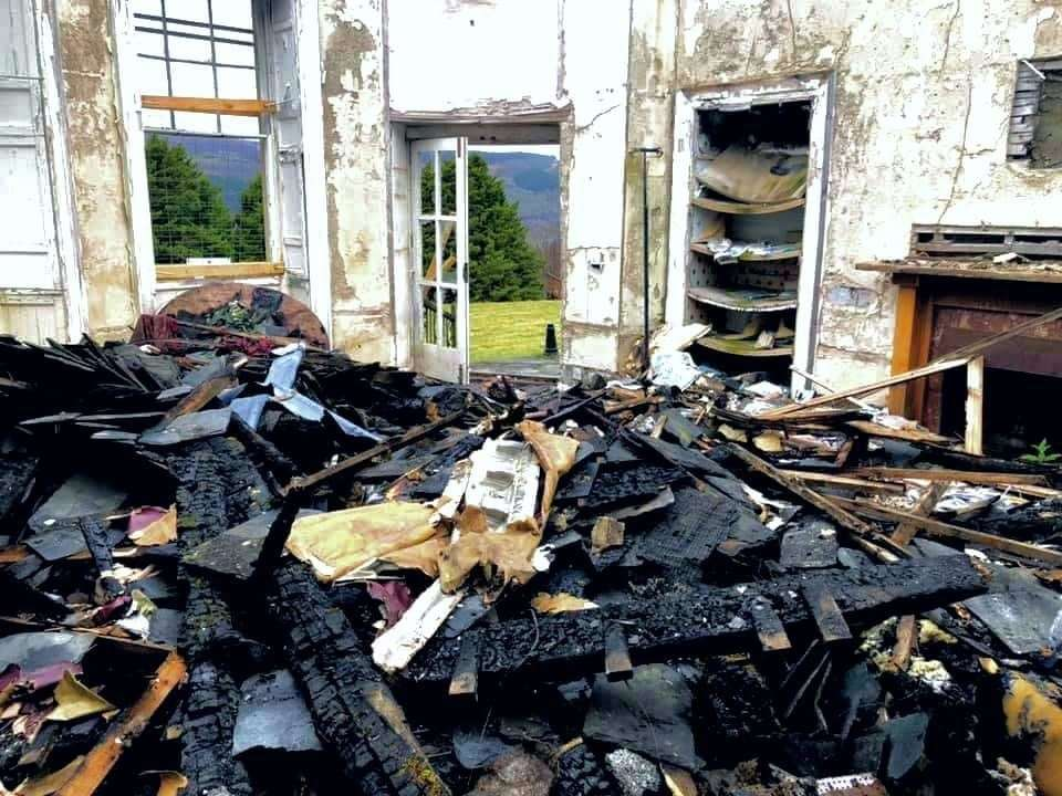 Boleskine House clearance work progressing in the oratory room