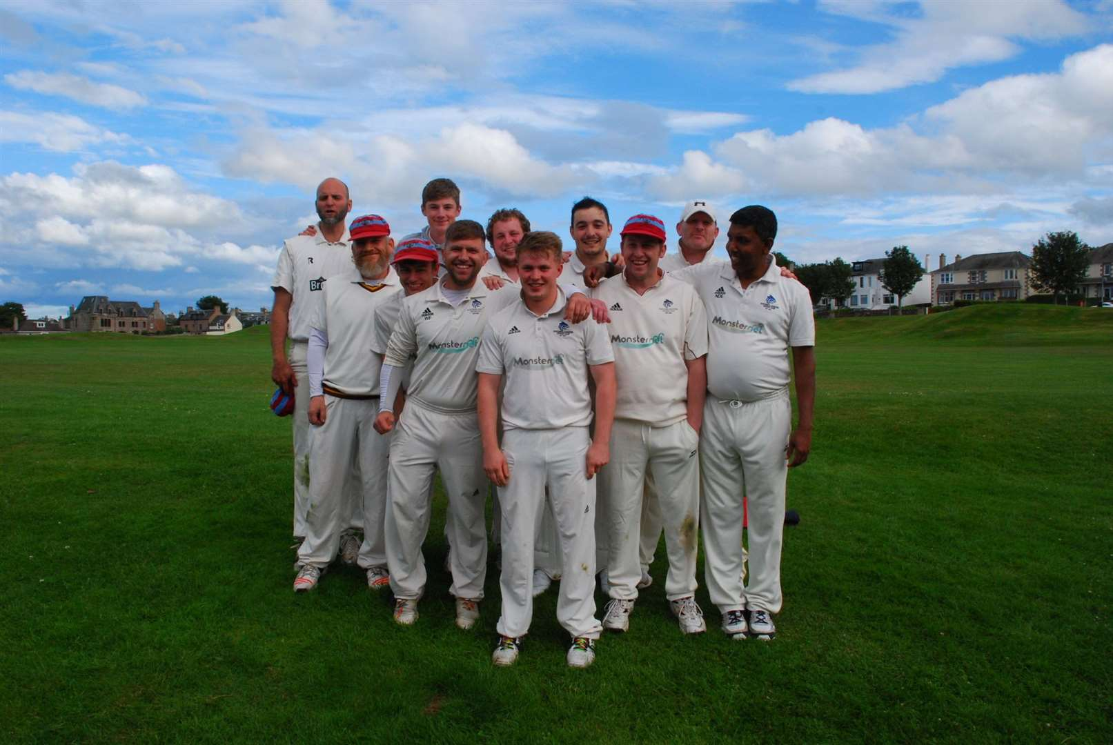 The victorious Northern Counties team who defeated Highland and Buckie in the final of the T20 Cup.
