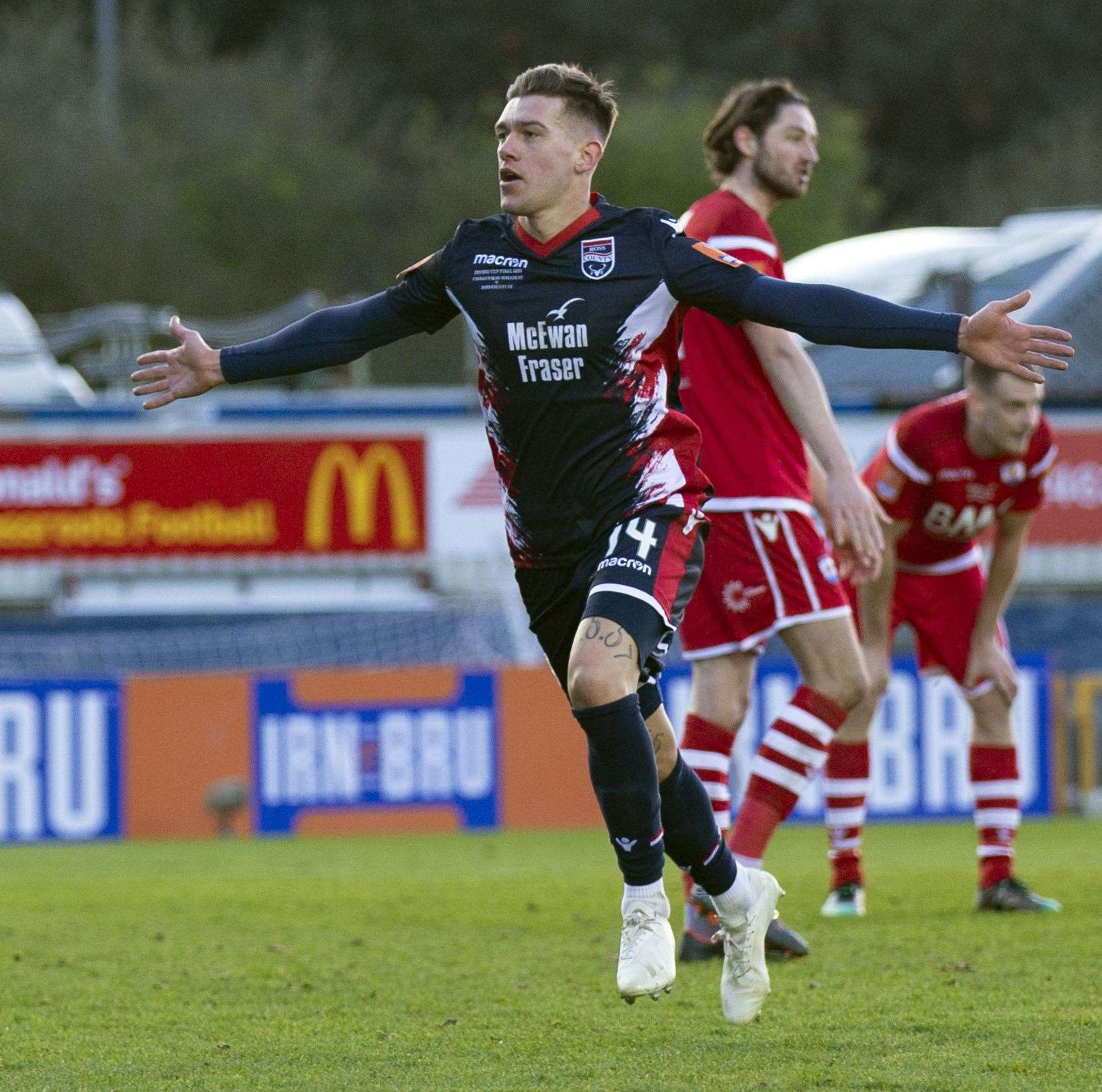 Josh Mullin opened the scoring for Ross County.