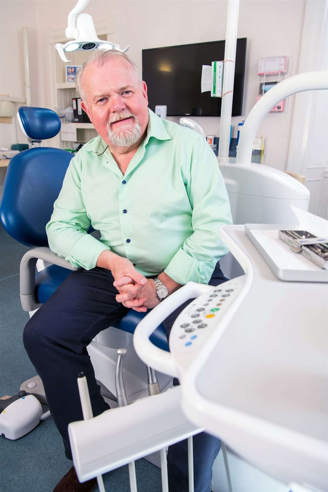 Clyde Munro Dental Group's CEO and founder, Jim Hall, in one of its clinics.