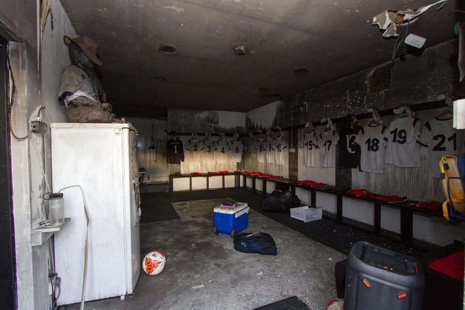 A blaze caused significant damage to the dressing room and kit room at Clach's Grant Street Park on Christmas Eve.