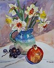 The President's Prize went to Margaret Cowie with Daffodils and Fruit.