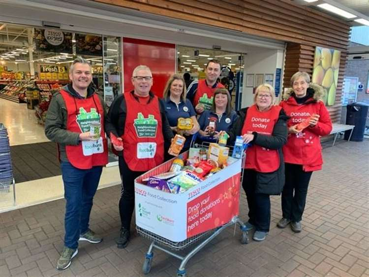 Tesco Food Collection Feeds The Needy In Inverness