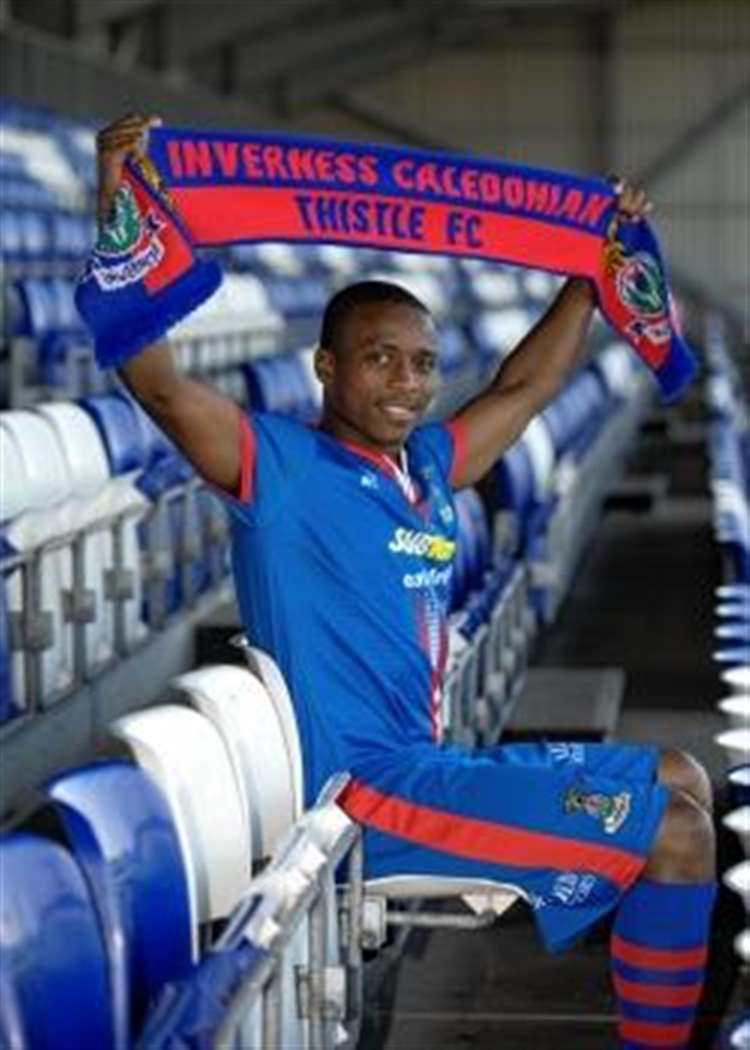 09293c060c8e New Caley Thistle signing Ibra Sekajja said he has learned a lot from Edgar  Davids.