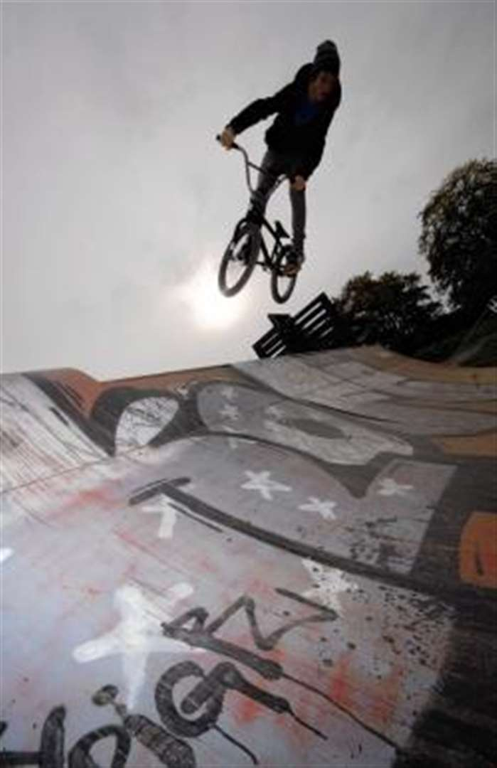 Vandals target skate ramps for second time