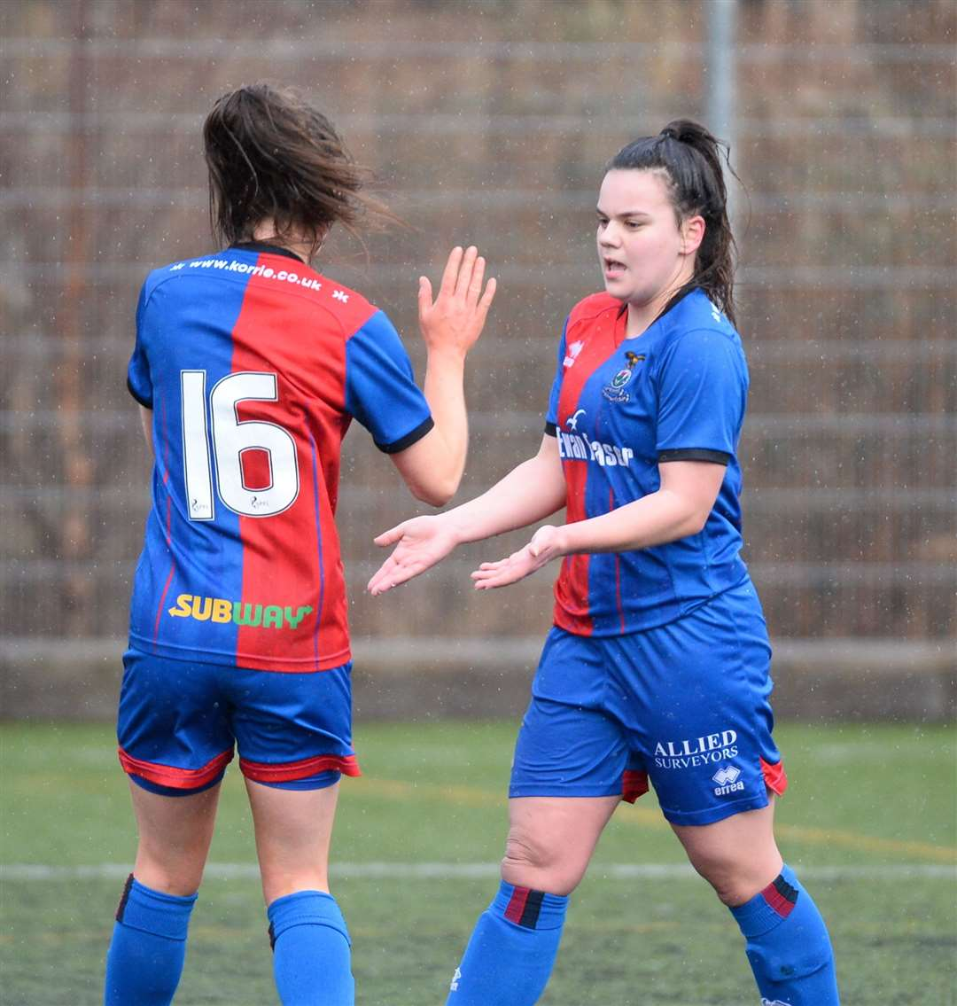 Caley Thistle Women have formed a new partnership with Thistle Girls to provide a pathway from junior football through to the senior game. Picture: Gary Anthony