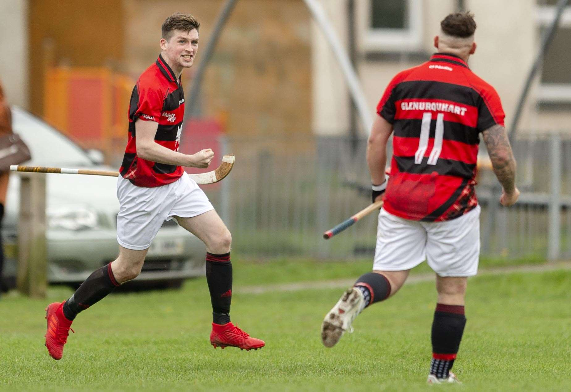 Scoreline undecided in shinty hurling match