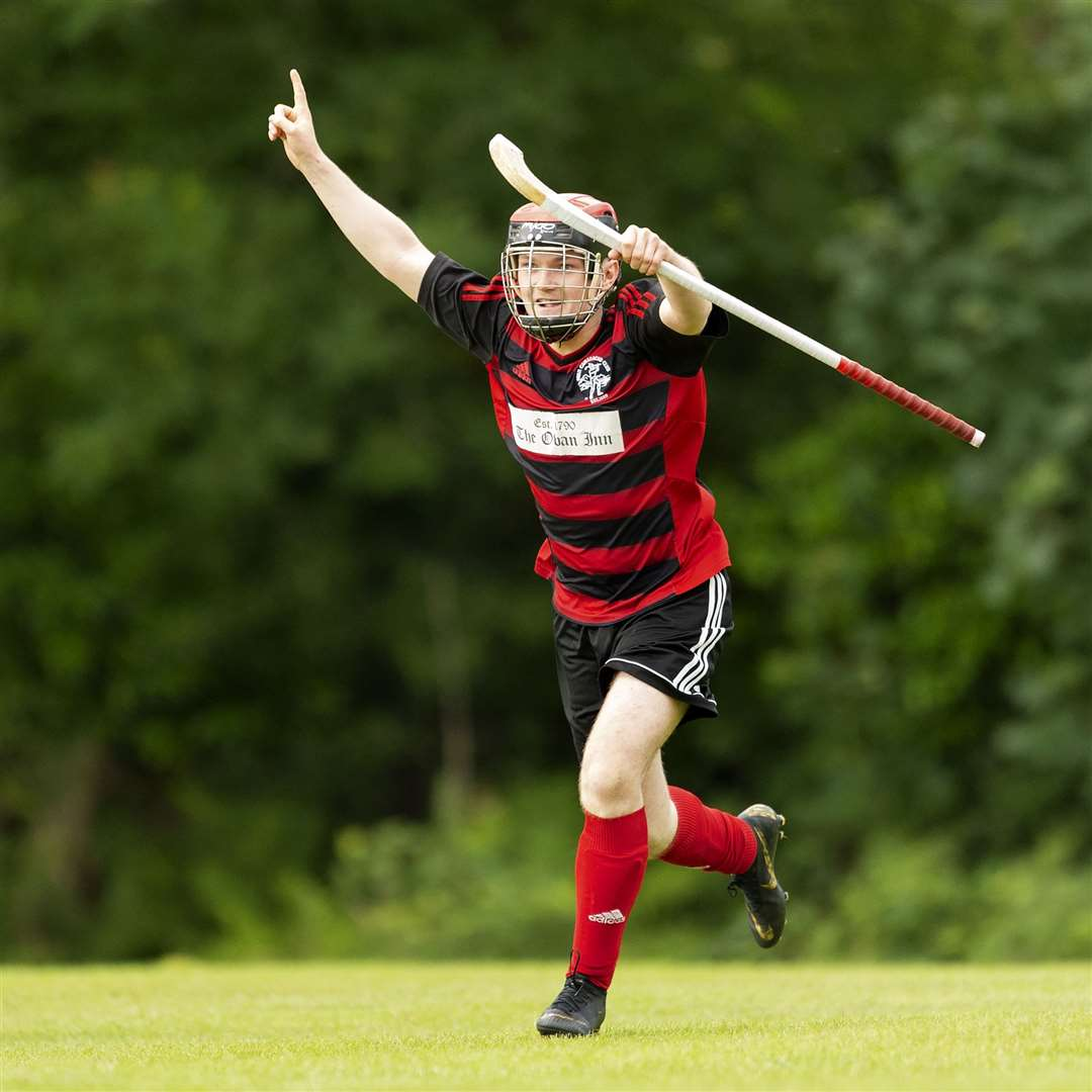 Lewis Buchanan scored the winning goal for Lochside against Lovat in the Sutherland Cup final. Picture: Neil Paterson
