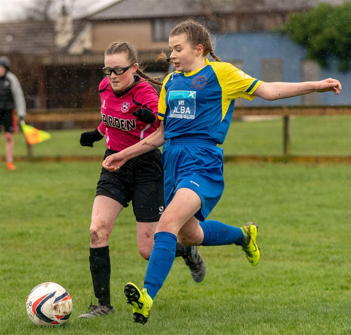 Nairn Ladies hosted Lewis and Harris in the first match of the new season. Picture: Jasper Image
