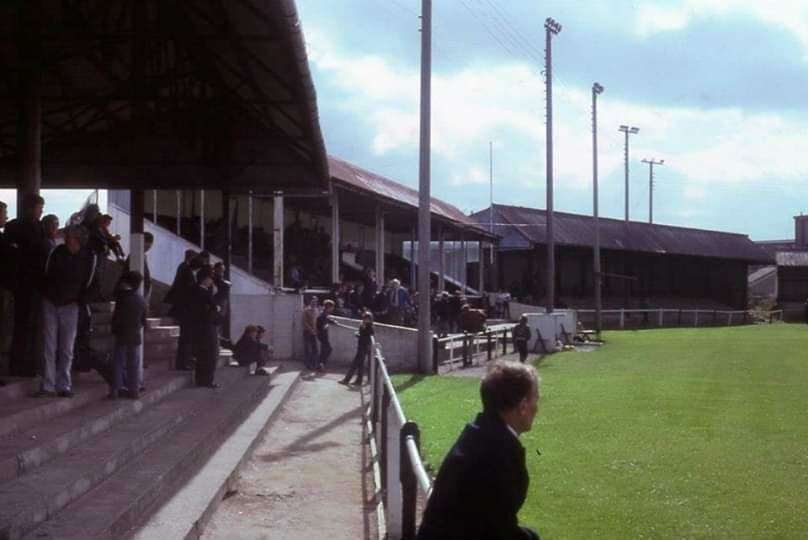 The grandstand which was sold off at Grant Street Park to save the club.