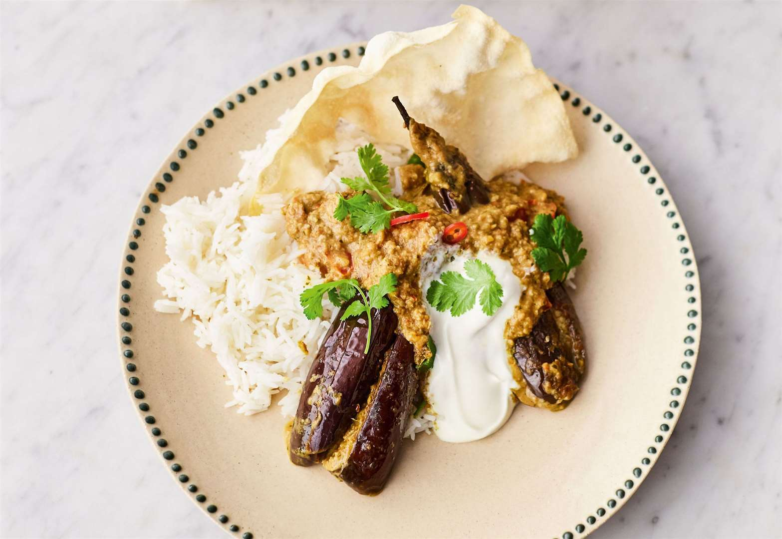 Recipe of the week: Jamie Oliver's stuffed curried aubergines