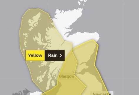 Met Office issues yellow warning for heavy rain - warns of transport disruption and flooding