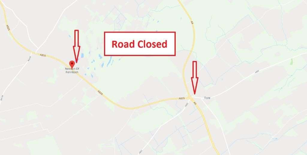 Traffic Scotland has warned that the road is closed.