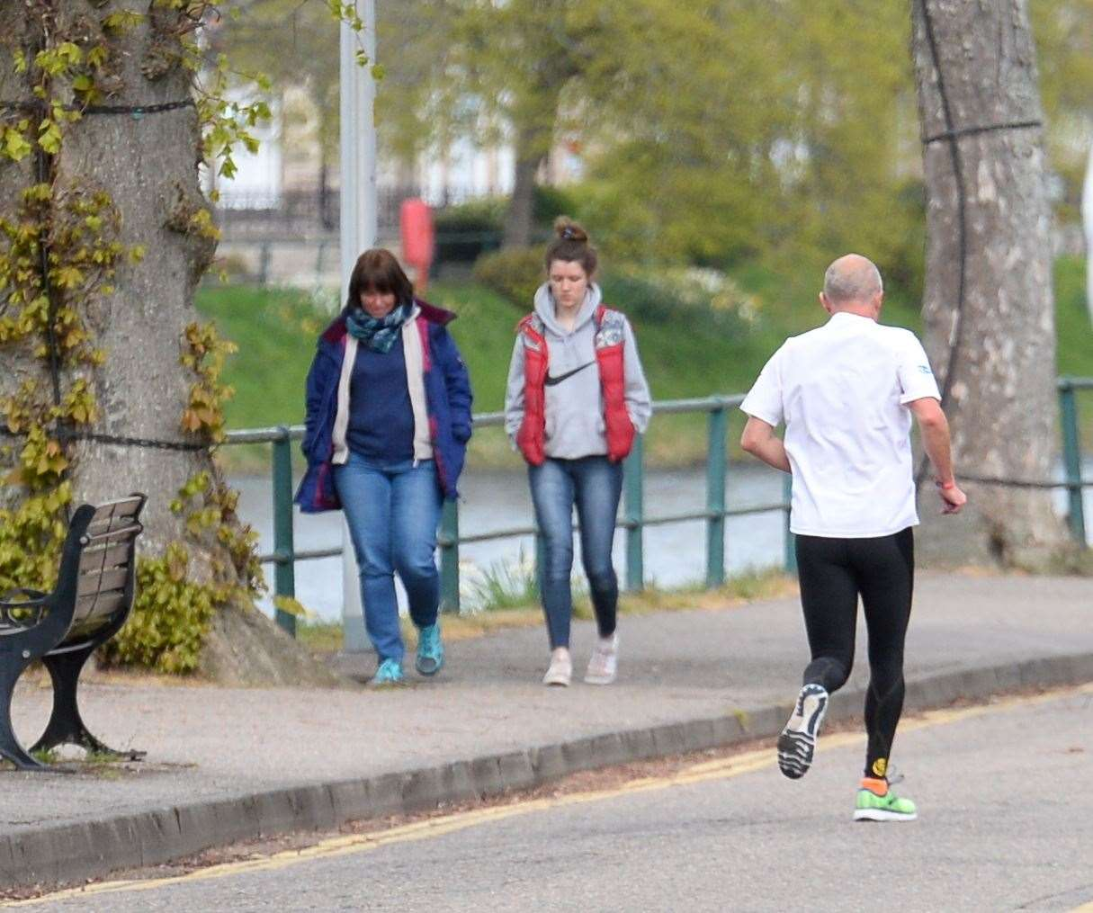 Walkers and runners have been pounding the street in Ness Bank.