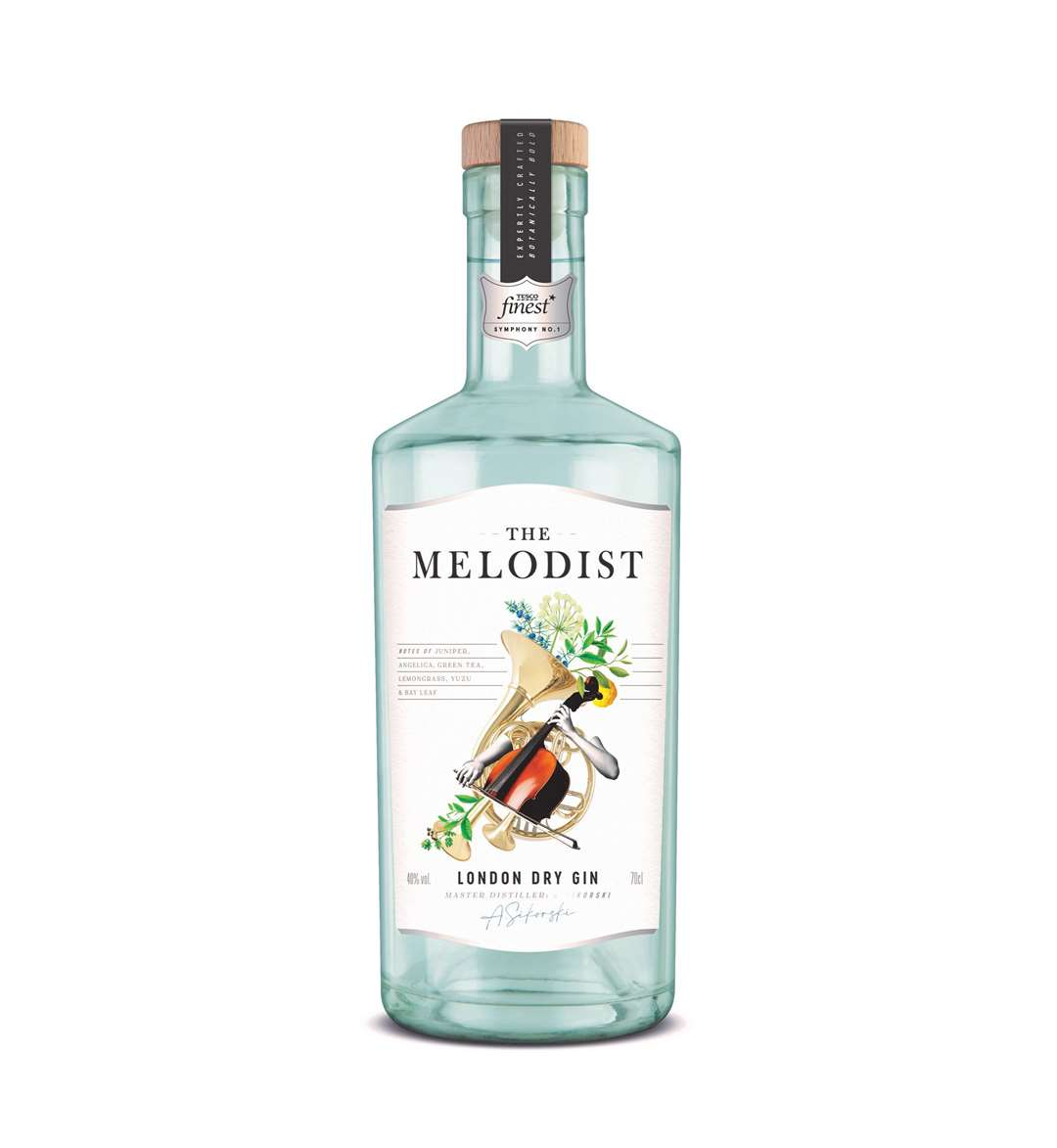 Tesco Finest The Melodist London Dry Gin. Picture: PA Photo/Tesco