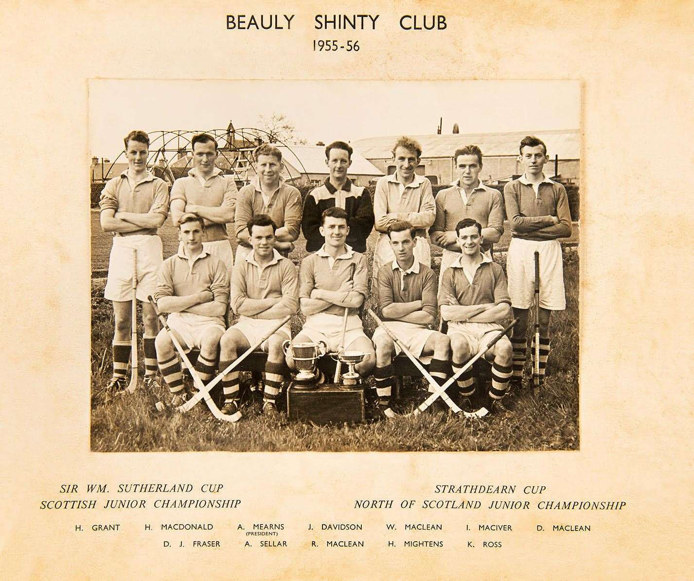 Picture of Beauly Shinty Club 1955-56 squad.
