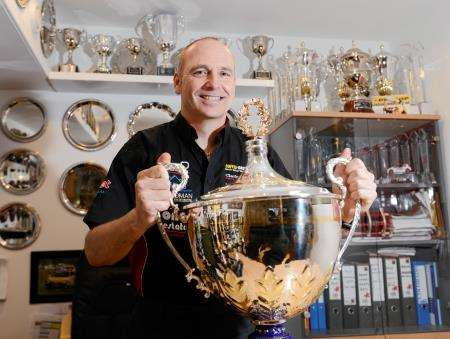 Dave Newsham, pictured with the Jack Sears Trophy he won in 2014, has designs on the independents championship.