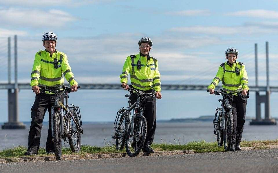 Police in Inverness now have access to bikes to get around the city.