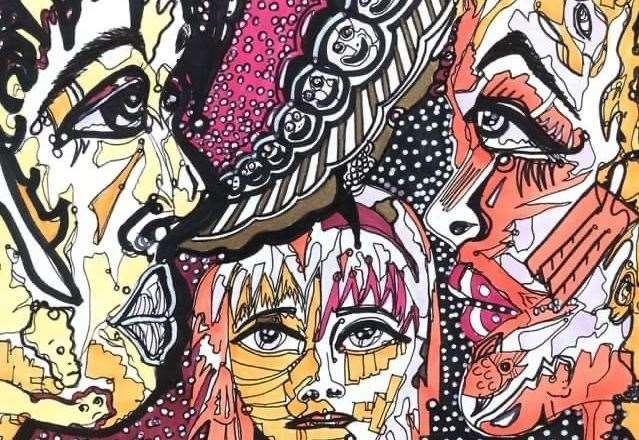 Artist portrays dark humour in doodles