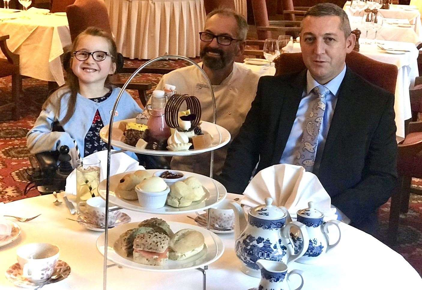 Hotel's afternoon tea will help girl get special wheelchair