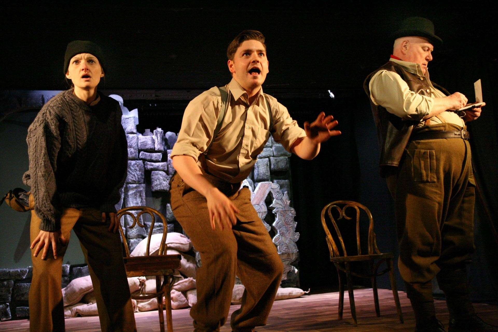 The play, The Beaches of St Valéry, depicts the events of 80 years ago.
