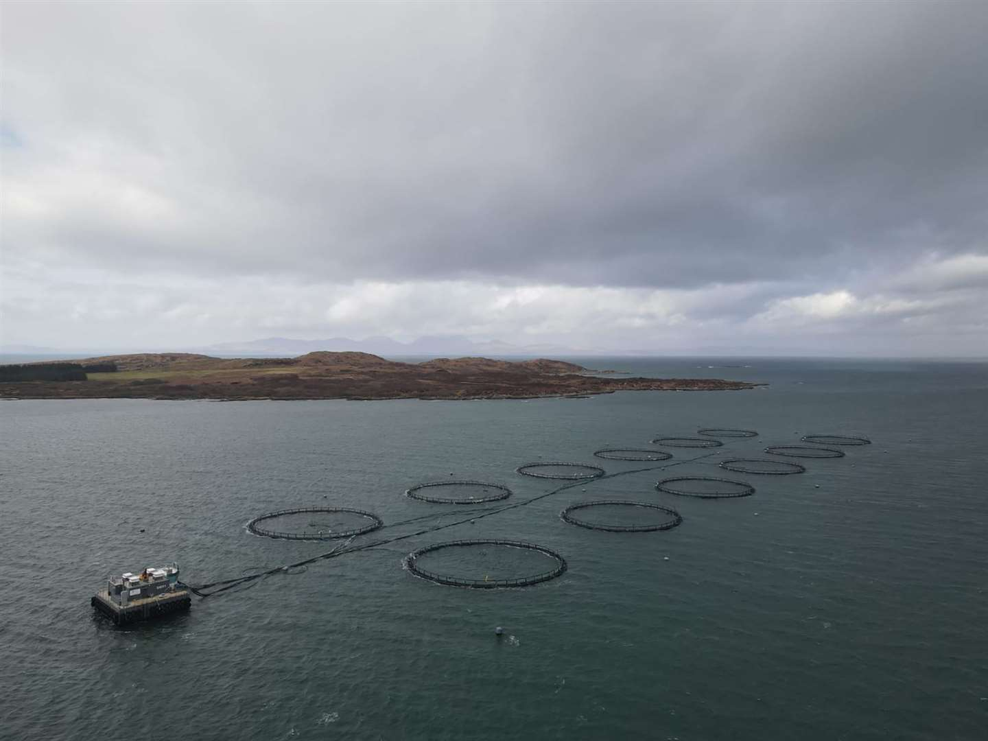 This Scottish Salmon Company fish farm near Gigha Island is one of many employing Gael Force equipment and expertise.