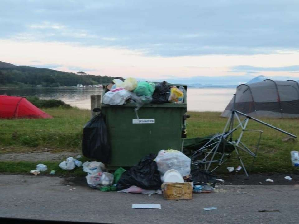 Overflowing bins are the least of the problems being caused by a flood of holidaymakers to the Highlands according to reports.