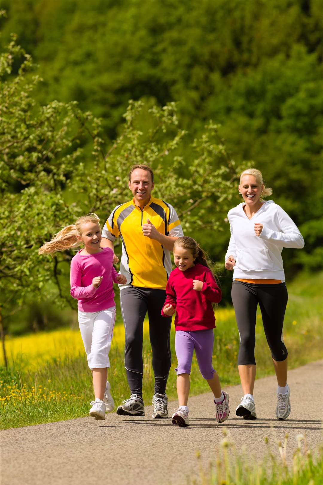 Keeping fit: Jogging, cycling and swimming are good for your health and are enjoyable too.