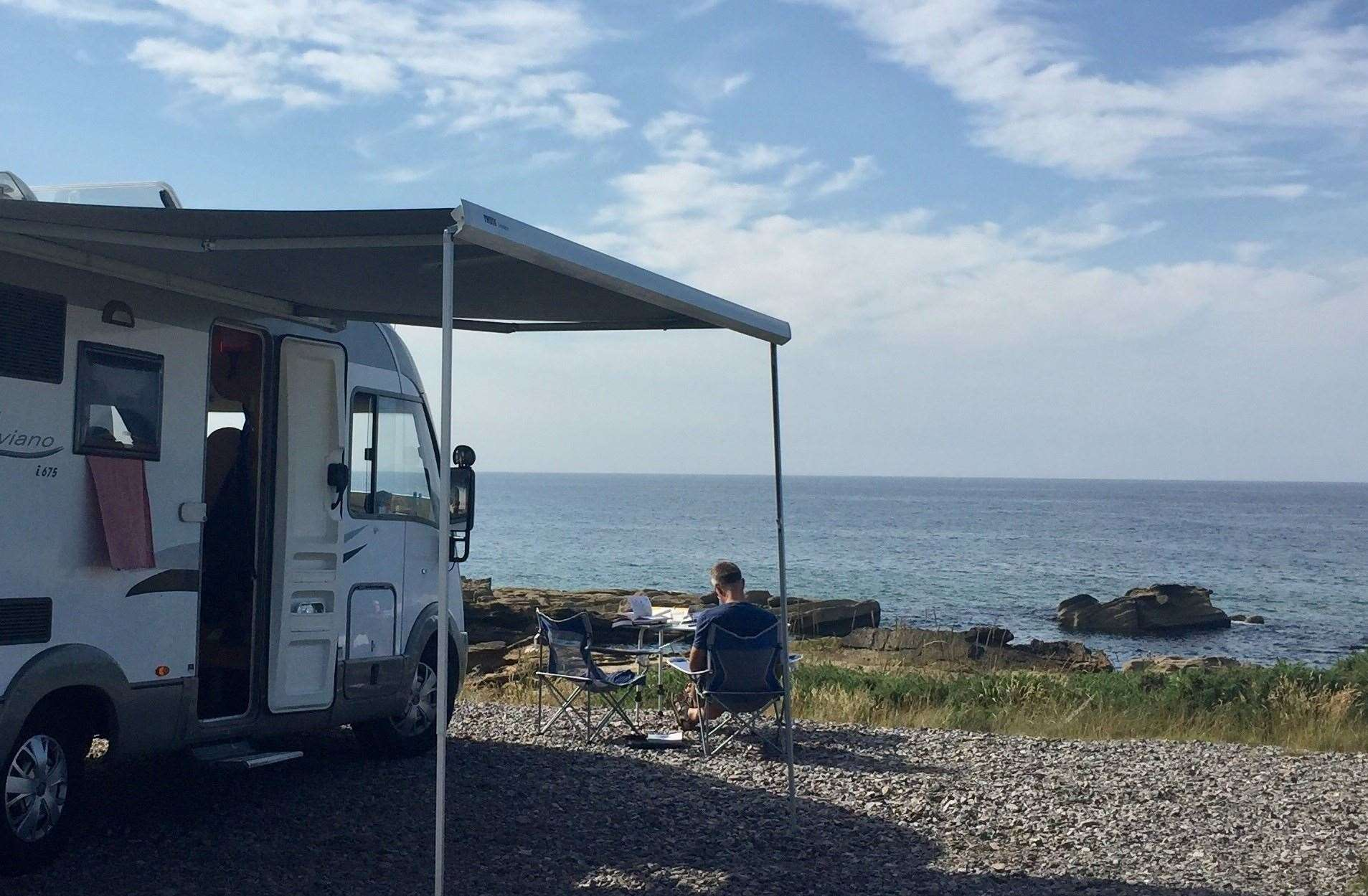 Nicky is looking forward to more motorhome holidays – when restrictions allow.