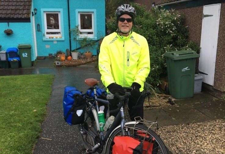 Inverness hotel steps up to help former teacher on inspiring cycle ride