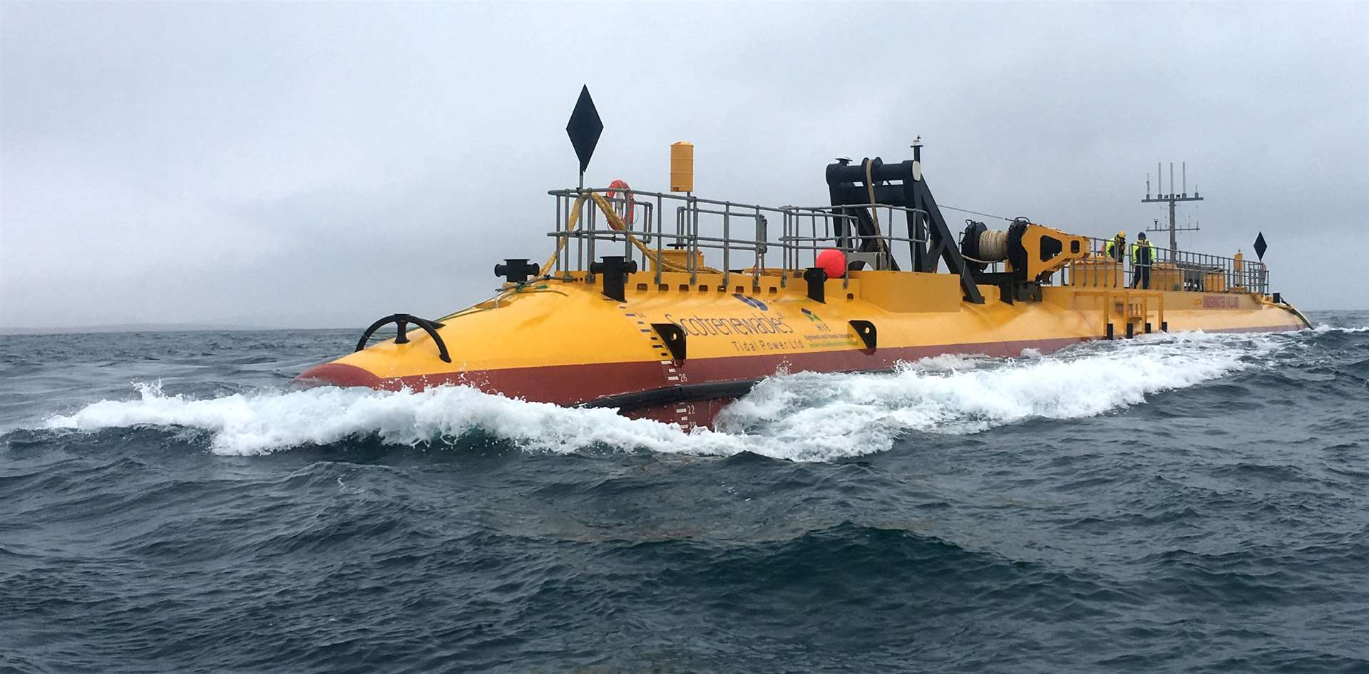 The prototype tidal energy turbine SR2000 was tested at EMEC's Fall of Warness site in Orkney. Picture: Orbital Marine Power