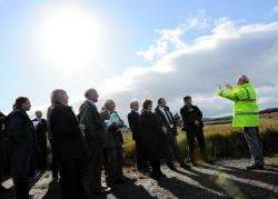 Highland councillors visit the area close to the proposed Druim Ba wind farm.