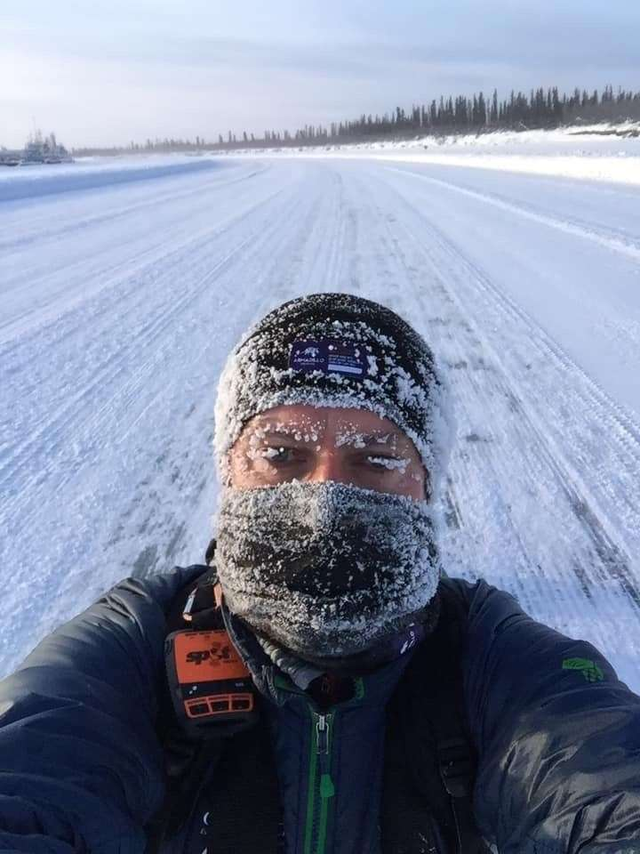 Roddy Riddle taken during his 6633 Arctic Ultra race.