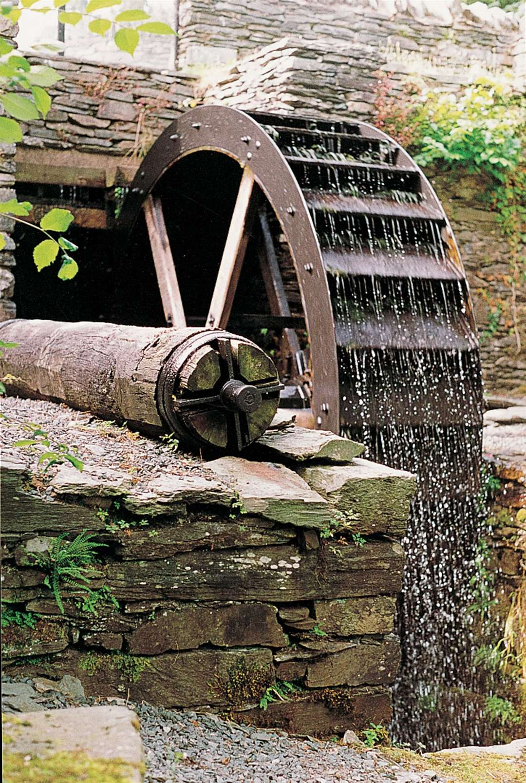 The waterwheel in action.
