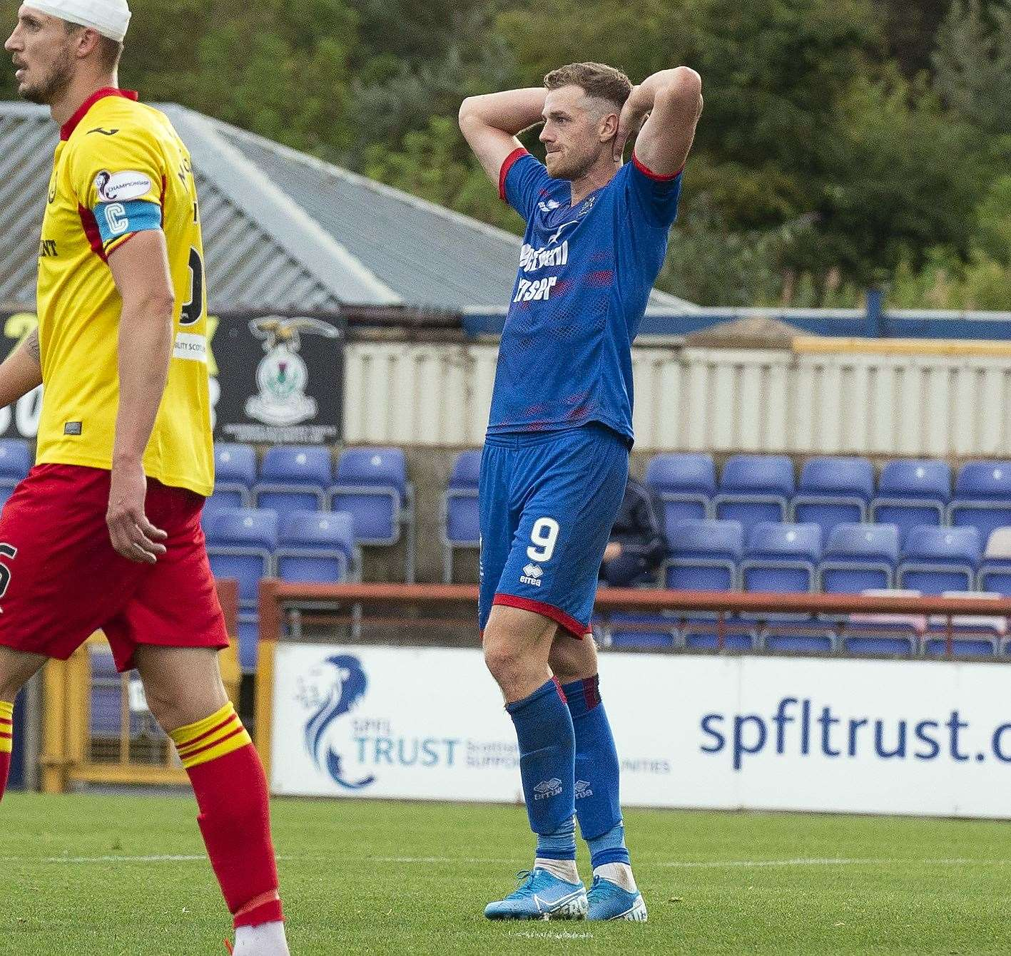 Jordan White put Inverness Caledonian Thistle in front.
