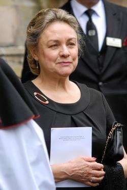 Lady Johnston pictured at her husband's memorial service