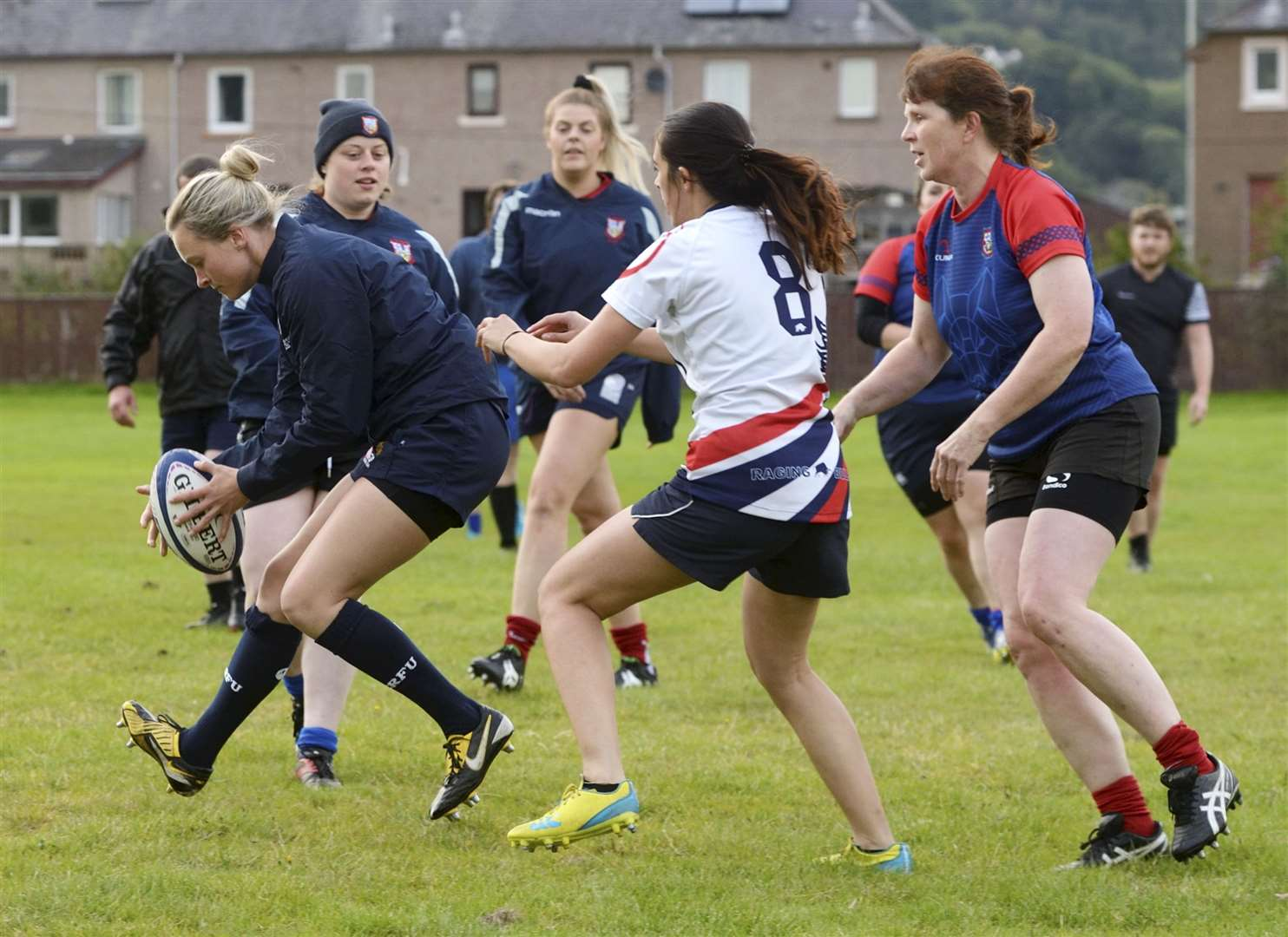 Craig Dunain Ladies RFC,.The women of Craig Dunain Ladies RFC, at rugby training..Picture: James MacKenzie..