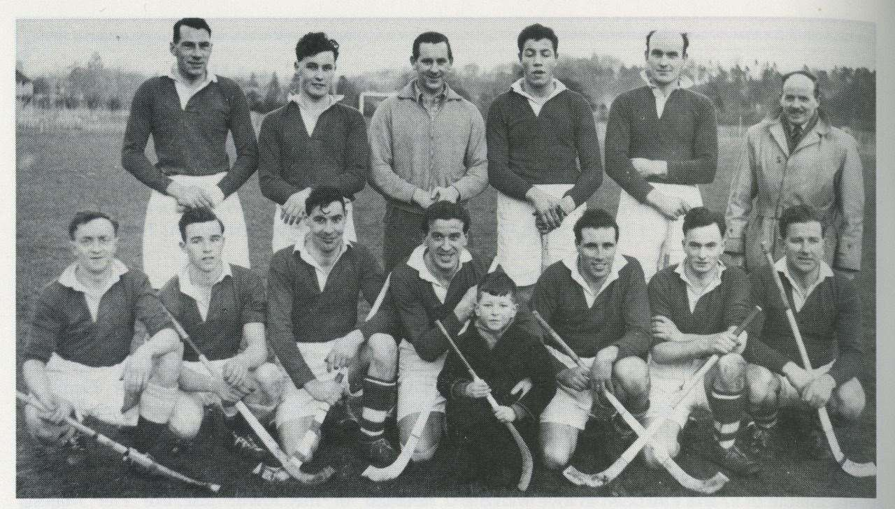 Denis Swanson (far left front) with Inverness shinty team in the 1970s. Picture: The Shinty Archive (Hugh Dan MacLennan)