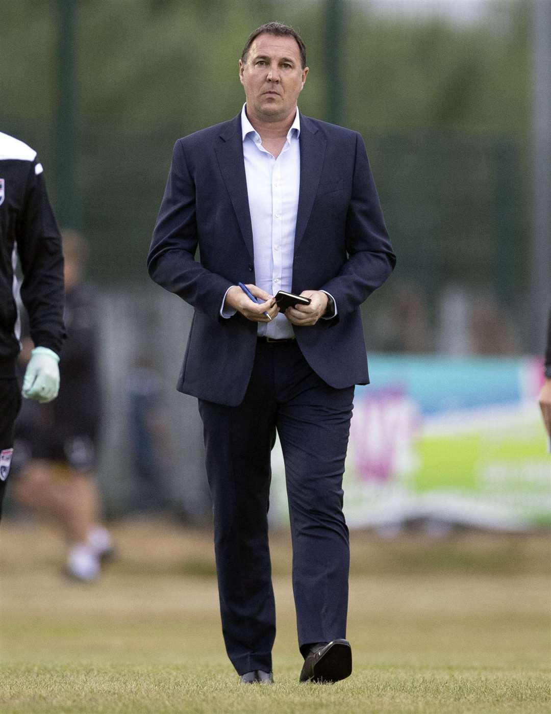 Manager Malky Mackay in Tuesday's win at Brora.  Image - Ken Macpherson, Inverness.