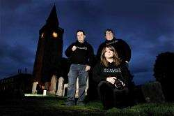 Highland Paranormal Group members at the Old High Church. Left to right, Liam Shand, Gary Davies and Debs MacIver.