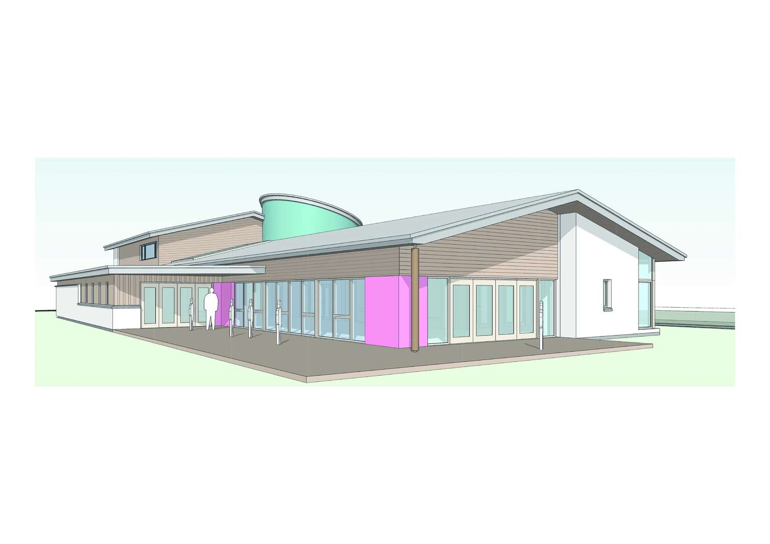 A CGI of what the Haven Centre will look like.