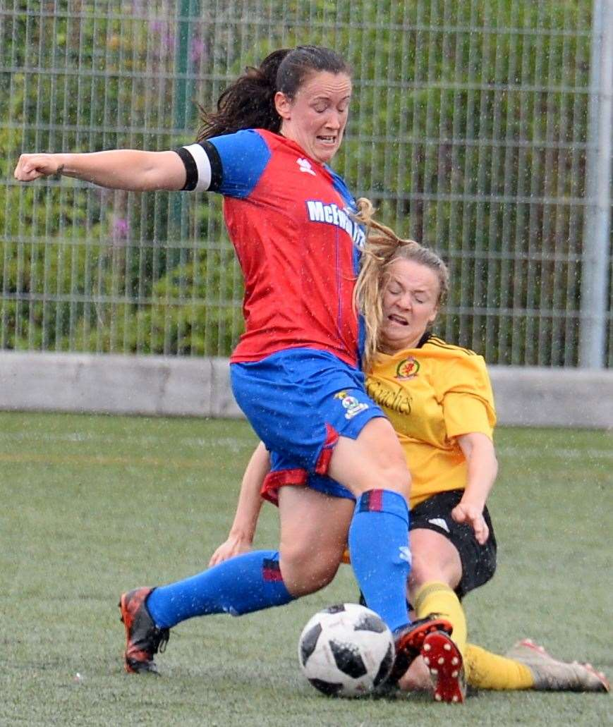 Caley Thistle captain Lisa Mackenzie against Cove Rangers. Picture: Gary Anthony