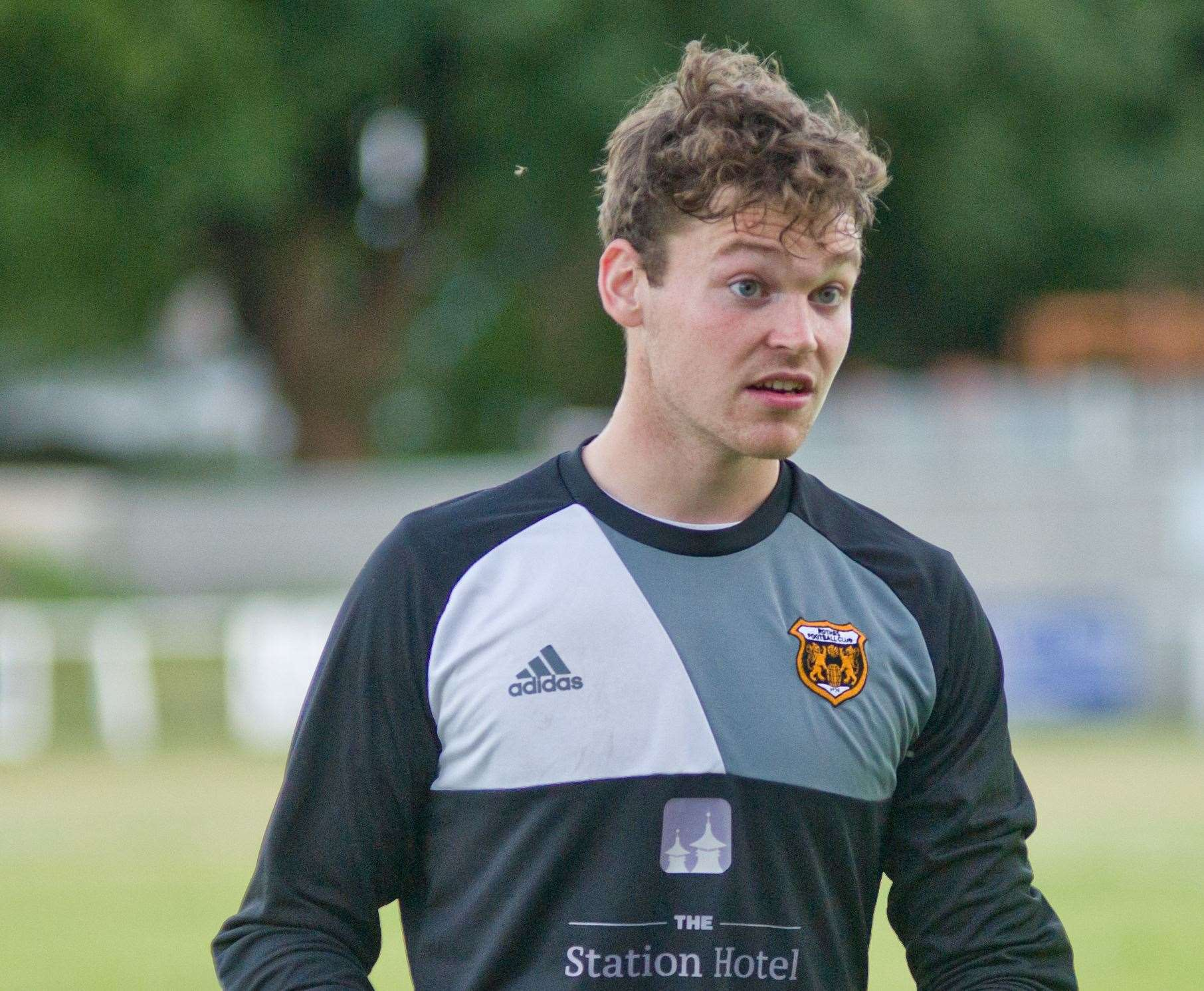 Daniel Hoban (left) pictured while on loan at Rothes. Picture:Daniel Forsyth. Image No.041574