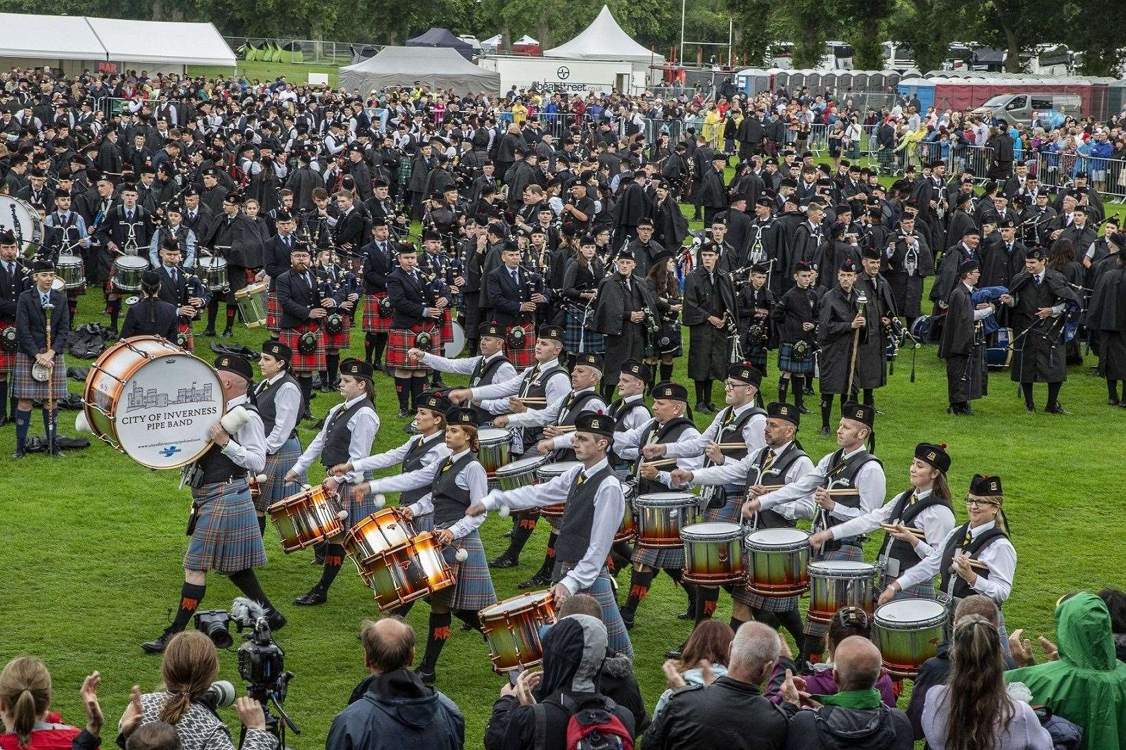 Pipe Bands will not be heard at Bught Park this summer.