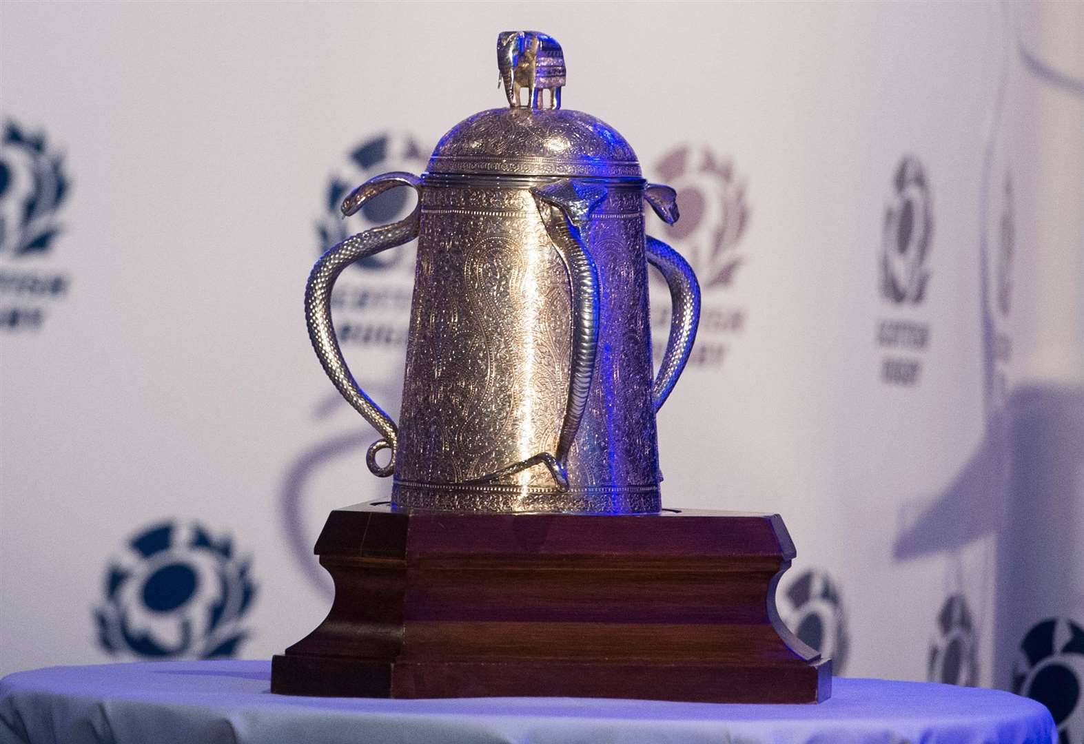 Calcutta Cup on display at Highland